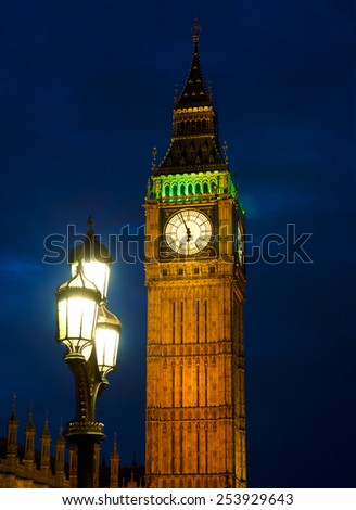 Big Ben clock tower, Westminster