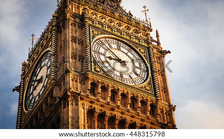 Big Ben close up, London, UK