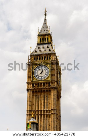 Big Ben, Great Bell of the clock, Palace of Westminster in London, England