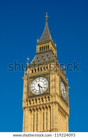 Big Ben Houses of Parliament Westminster Palace London gothic architecture