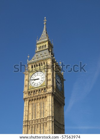 Big Ben, Houses of Parliament, Westminster Palace, London gothic architecture