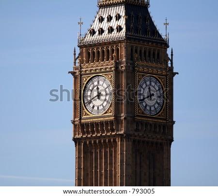 Big Ben in downtown London. - stock photo
