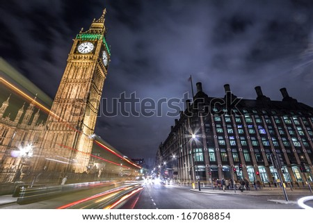 Big Ben in London, England - stock photo