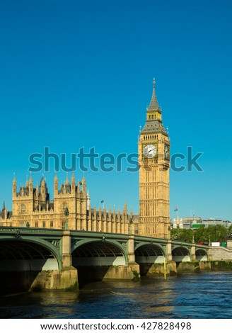 Big ben in London, England - stock photo