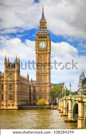 Big Ben in London, UK - stock photo