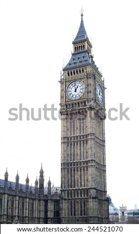 Big Ben in Westminster, London - stock photo