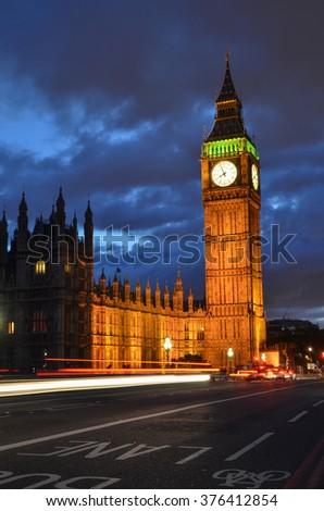 Big Ben, London, England - stock photo