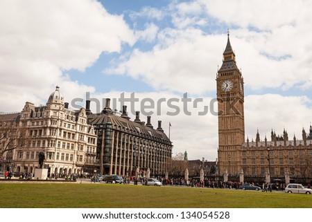Big Ben - Palace of Westminster, London - stock photo