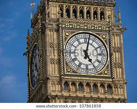 big ben tower in London uk - stock photo