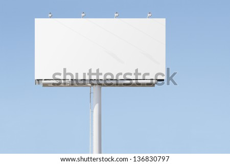 Big billboard advertising sign