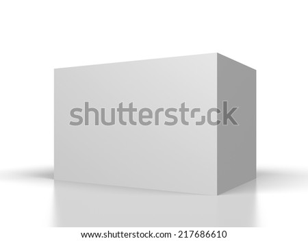 big blank white box on white background - stock photo