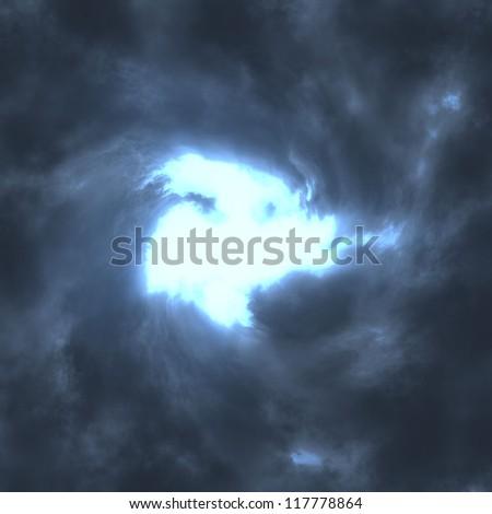 big blue storm background - stock photo
