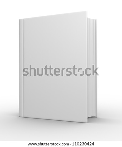 Big book. 3d render - stock photo