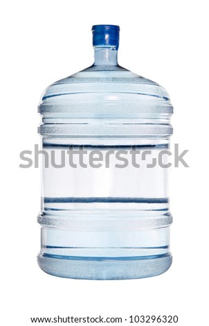 Big bottle for cooler isolated on white - stock photo