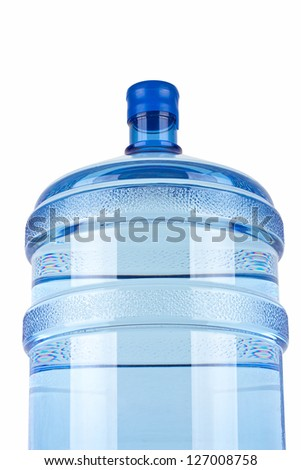 big bottle of water for delivery, isolated on white - stock photo