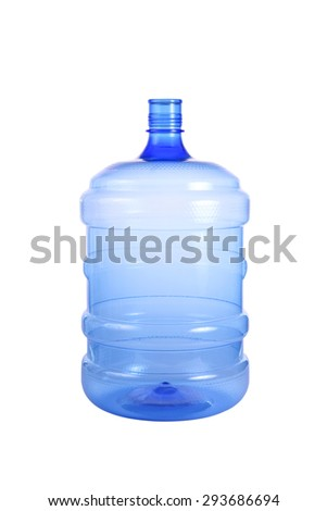 Big bottle of water isolated on a white background. This has clipping path. - stock photo
