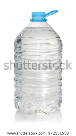 Big bottle of water isolated on a white background with clipping path  - stock photo