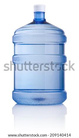 Big bottle of water isolated on white background - stock photo