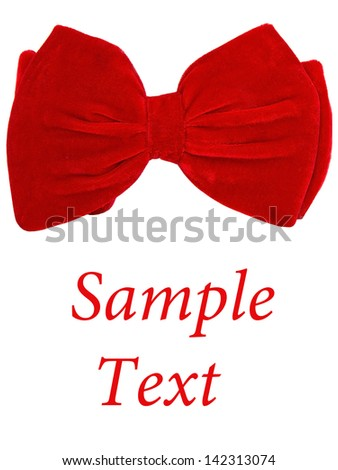 Big bow tie card text - stock photo