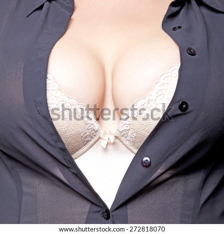 Big Breasts Lady In Sexy Corset Underwear