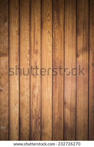 Big Brown wood plank wall texture background - stock photo