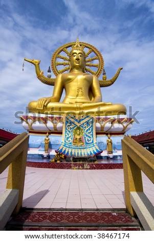 Big Buddha at Koh Samui Thailand - stock photo