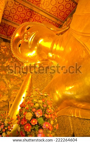 Big Buddha in wat po temple bangkok thailand