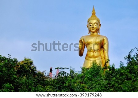Big buddha stalue in southern Thailand(public place) - stock photo