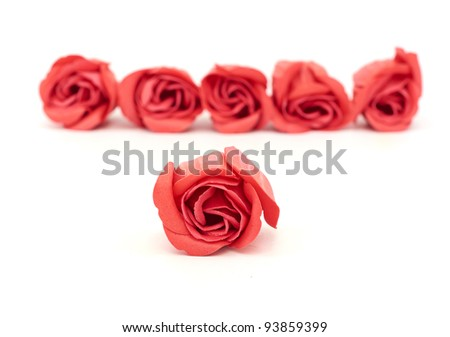 Big bunch of red roses - stock photo