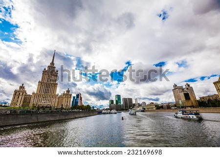 big city touristic travel views in summer day - stock photo