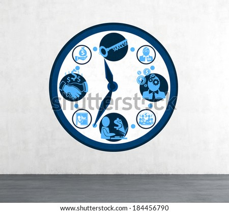 Big clock and business schedule