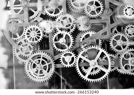 big Clock gear set - stock photo