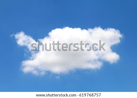Big cloud on sky
