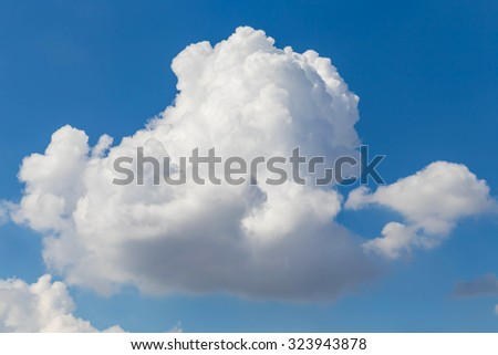 big cloud on the blue sky - stock photo