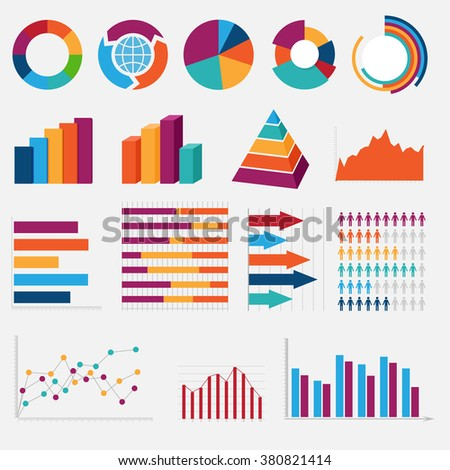 big collection of colorful diagrams and charts