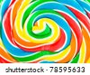Big colorful lollipop close up can be used for background - stock photo