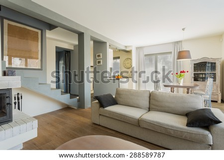 Big Comfortable Couch In Modern Living Room