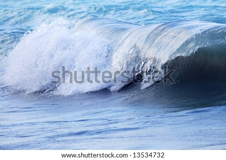 Big crashing wave in a stormy ocean