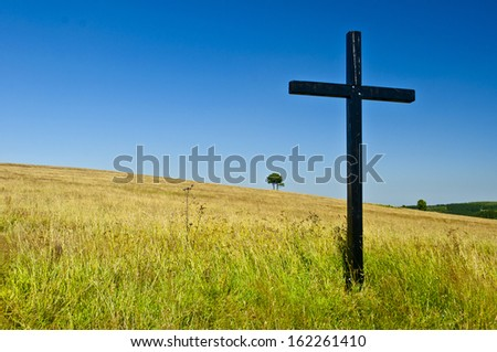 big cross - stock photo