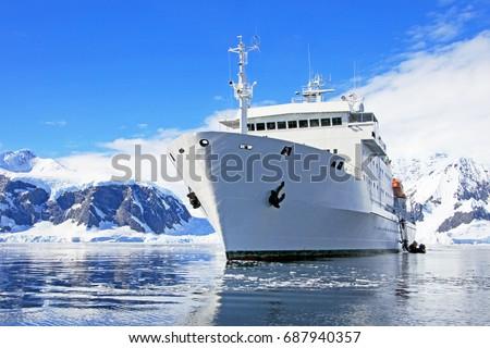 Antarctic Cruise Ship Stock Images RoyaltyFree Images Vectors - Antartica cruise ship