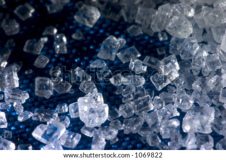 Big Crystals of sugar sweet - stock photo