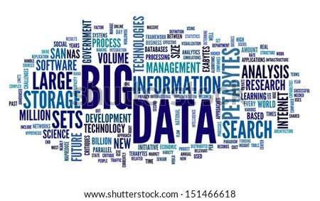 Big Data Clipart Big Data Concept in Word Tag