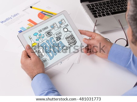 BIG DATA Concept on Tablet PC Screen
