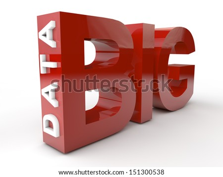 Big Data in red and white letters. - stock photo