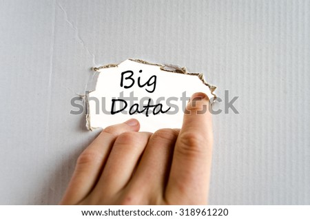Big data text concept isolated over white background - stock photo