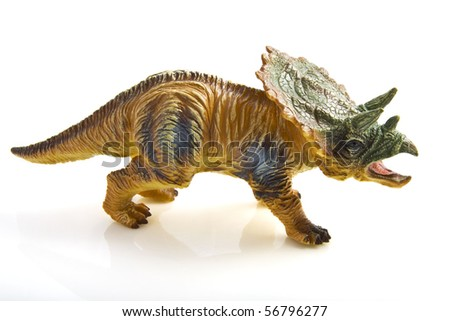 Big dinosaur isolated on a white background