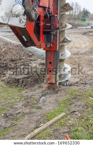 Big drilling machine - stock photo