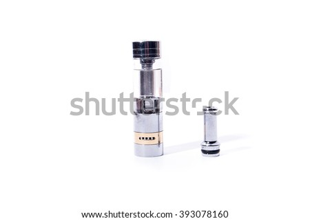big electronic cigarettes isolated on white e-cig