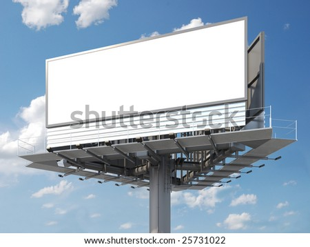 Big empty billboard ready for your image or text