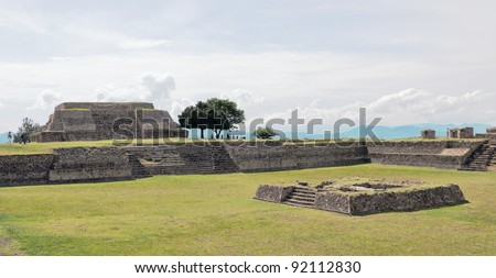 Big ground among the ruins at Monte Monte Alban - Oaxaca, Mexico